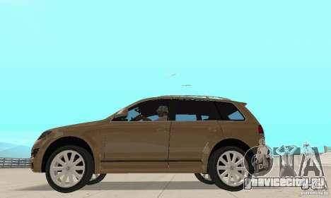 Volkswagen Touareg 2008 для GTA San Andreas вид сзади слева