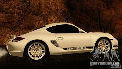 Porsche Cayman R 987 2011 V1.0 для GTA San Andreas вид снизу