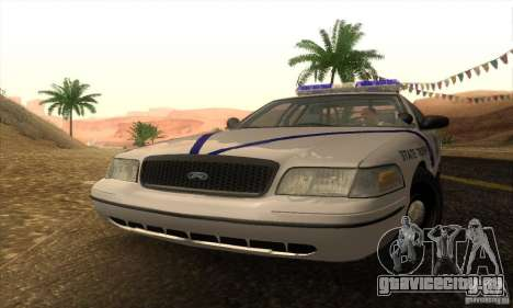 Ford Crown Victoria Arkansas Police для GTA San Andreas вид сзади слева