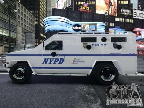 Lenco Bearcat NYPD ESU V.2 для GTA 4 вид справа