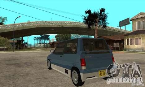 Suzuki Alto Works для GTA San Andreas вид сзади слева