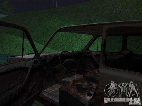 ВАЗ НИВА 1982 Ржавый для GTA San Andreas вид сзади слева