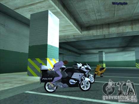 CopBike для GTA San Andreas вид сзади