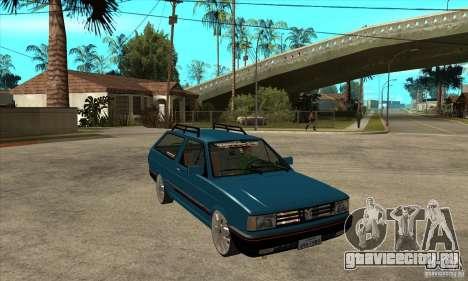 VW Parati GLS 1989 JHAcker edition для GTA San Andreas вид сзади