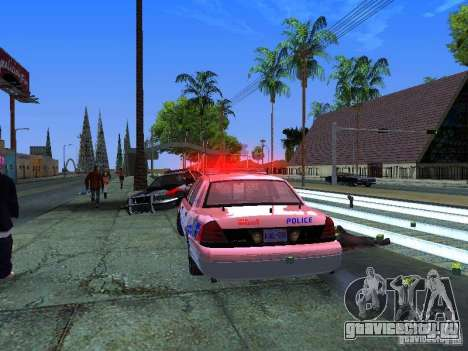 Ford Crown Victoria Police Patrol для GTA San Andreas вид изнутри