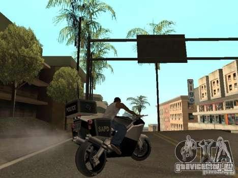NRG-500 Police для GTA San Andreas вид сзади