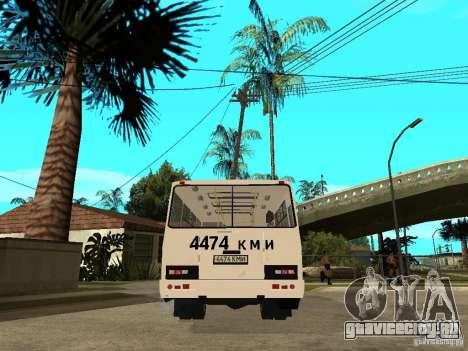 ПАЗ 3205 для GTA San Andreas вид сзади слева
