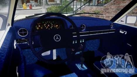 Mercedes-Benz 230E 1976 для GTA 4 вид справа