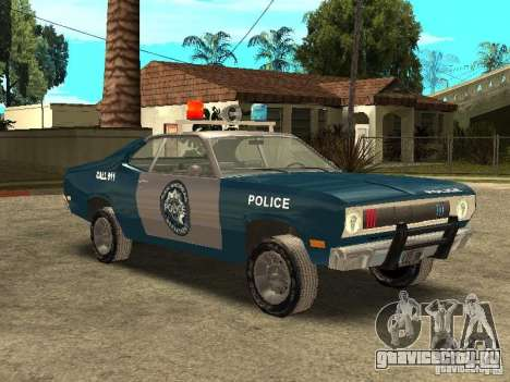 Plymout Duster 340 POLICE v2 для GTA San Andreas вид изнутри