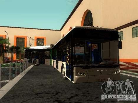 Троллейбус ЛАЗ E301 для GTA San Andreas вид снизу