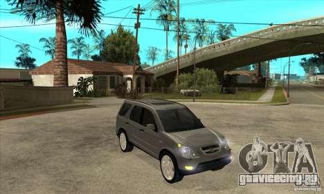 Honda CRV (MK2) для GTA San Andreas вид сзади