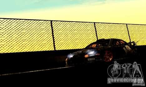 Subaru Impreza WRC 2007 для GTA San Andreas вид сзади слева
