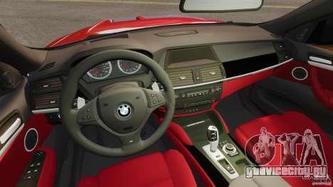 BMW X6 M 2010 для GTA 4 вид сзади