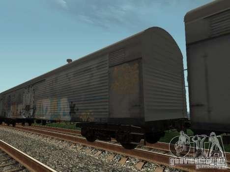 Рефрежираторный вагон Дессау №8 Разрисованный для GTA San Andreas вид сзади слева