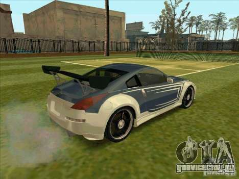 Nissan 350Z Chay from FnF 3 для GTA San Andreas вид сзади слева
