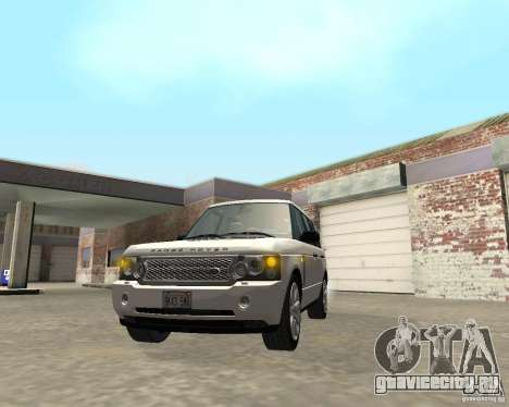 Land Rover Range Rover Supercharged 2008 для GTA San Andreas вид изнутри