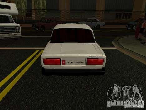 VAZ 2107 Avtosh Style для GTA San Andreas вид сзади слева