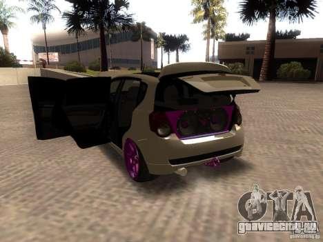 Chevrolet Aveo Tuning для GTA San Andreas вид сзади слева