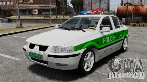 Iran Khodro Samand LX Police для GTA 4