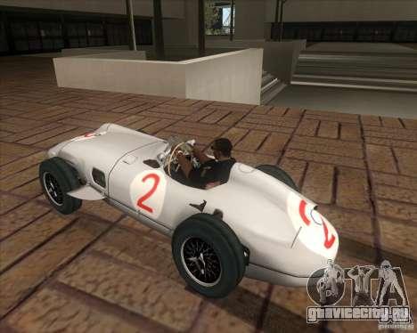 Daimler-Benz AG Juan Manuel Fangio для GTA San Andreas вид слева