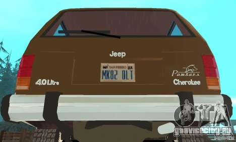 Jeep Grand Cherokee 1986 для GTA San Andreas вид изнутри