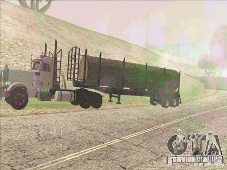 Прицеп к Peterbilt 379 для GTA San Andreas вид слева