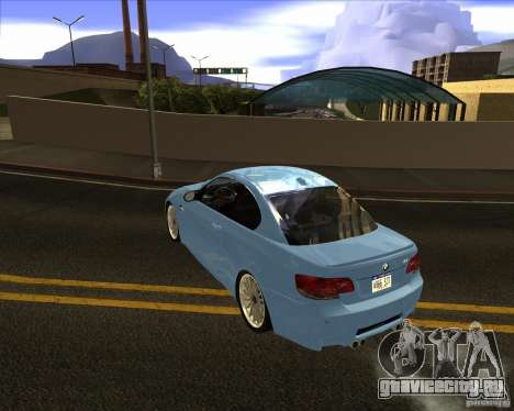 BMW M3 Convertible 2008 для GTA San Andreas вид сзади слева