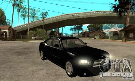 Dodge Charger RT для GTA San Andreas вид сзади