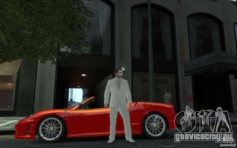 Отличный серо-белый костюм для GTA 4 второй скриншот