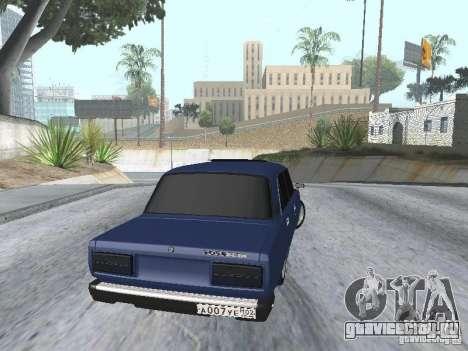 ВАЗ 2107 v2 для GTA San Andreas вид сзади слева