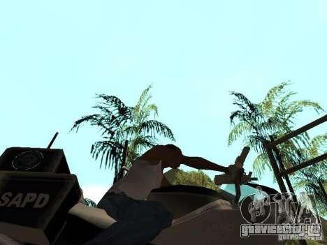 NRG-500 Police для GTA San Andreas вид изнутри