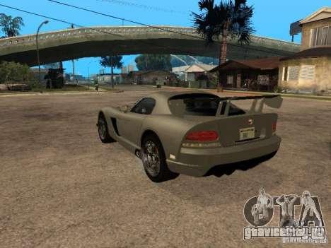 Dodge Viper для GTA San Andreas вид слева