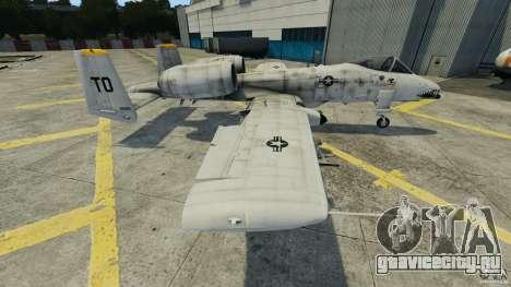 A-10A Thunderbolt II для GTA 4 вид слева