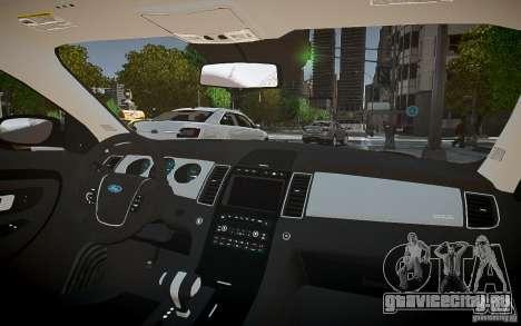Ford Taurus SHO 2010 для GTA 4 вид сбоку
