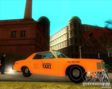 Ford Custom 500 4 door taxi 1975 для GTA San Andreas вид слева