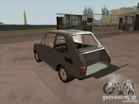 Fiat 126p Elegant для GTA San Andreas вид изнутри