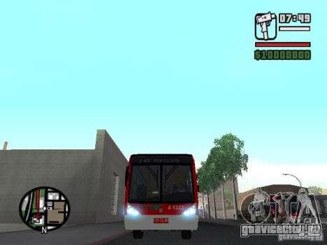 Caio Millennium TroleBus для GTA San Andreas вид изнутри