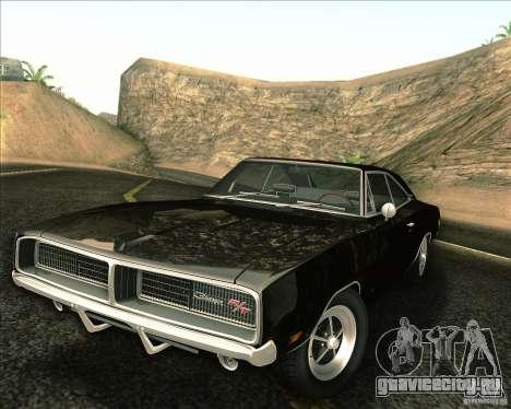 Dodge Charger RT 1969 для GTA San Andreas вид сверху