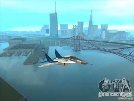 MiG-29 Стрижи для GTA San Andreas вид справа
