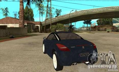 Peugeot RCZ 2011 для GTA San Andreas вид сзади слева