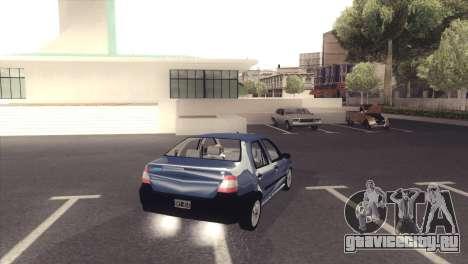 Fiat Siena 1998 для GTA San Andreas вид сзади слева