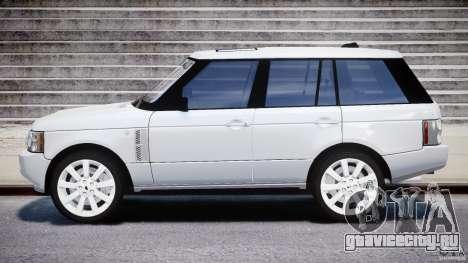 Range Rover Supercharged 2009 v2.0 для GTA 4 вид слева