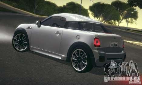 Mini Concept Coupe 2010 для GTA San Andreas вид сзади слева