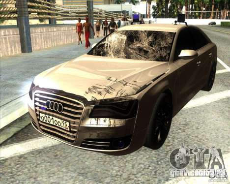 Audi A8 2010 v2.0 для GTA San Andreas вид снизу