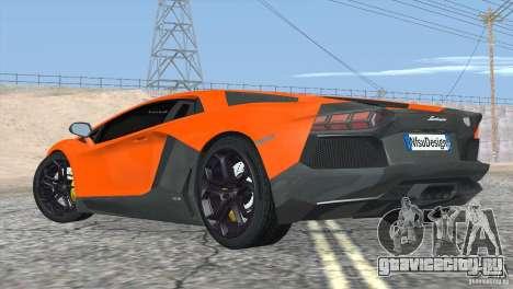 Lamborghini Aventador LP700-4 2012 для GTA San Andreas салон