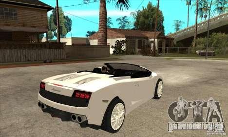 Lamborghini Gallardo Spyder v2 для GTA San Andreas вид справа