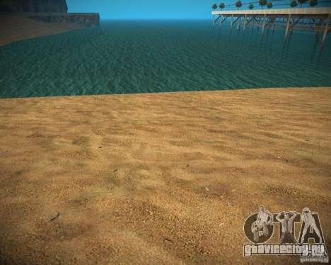 New textures beach of Santa Maria для GTA San Andreas четвёртый скриншот