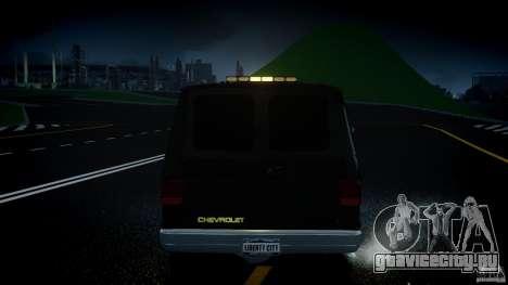 Chevrolet G20 Police Van [ELS] для GTA 4 вид снизу