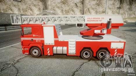 Scania Fire Ladder v1.1 Emerglights blue-red ELS для GTA 4 вид справа