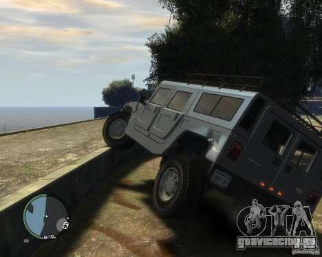 Hummer H1 для GTA 4 вид снизу